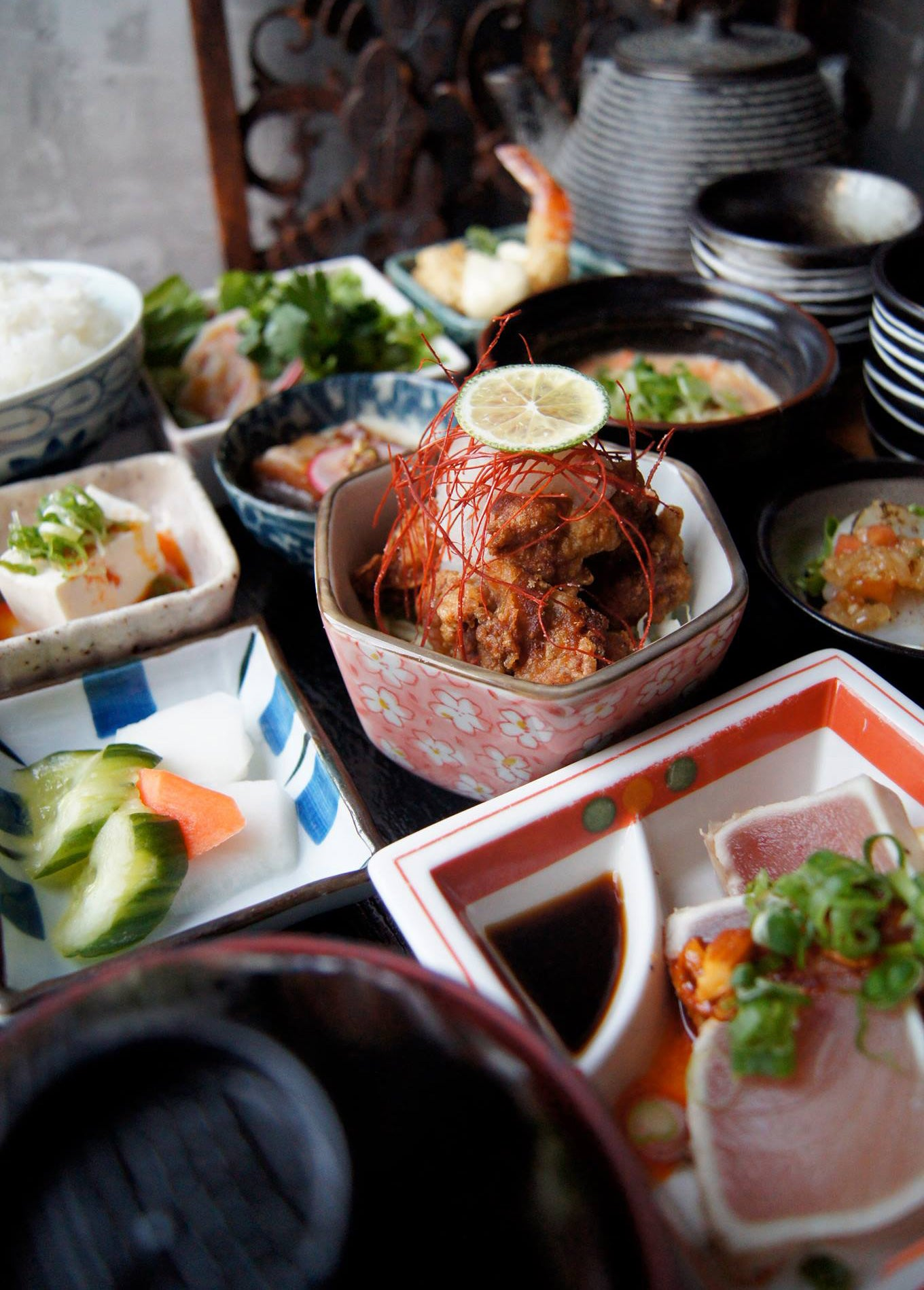 Japanese tapa table setting from Kingyo Restaurant