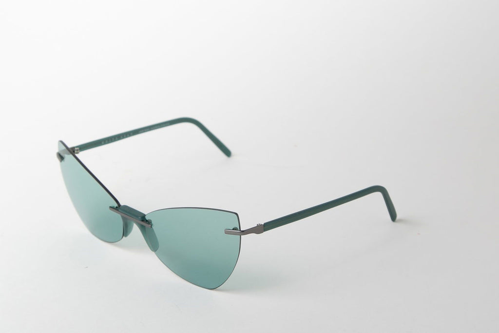 mint cat-eye sunglasses by Andy Wolf