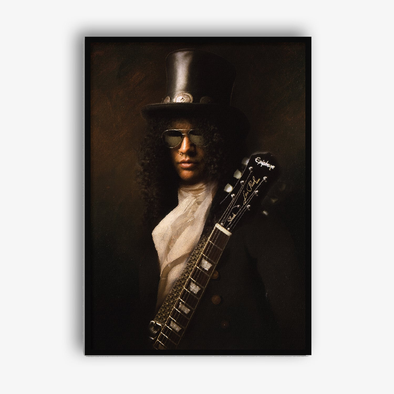 painted canvas art of Slash by Mood Prints at Secret Location Concept Store