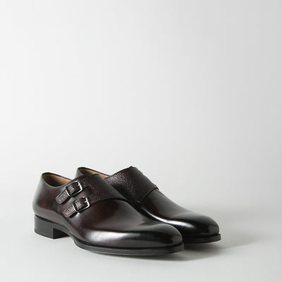 Scotch Grain Double Monk Straps