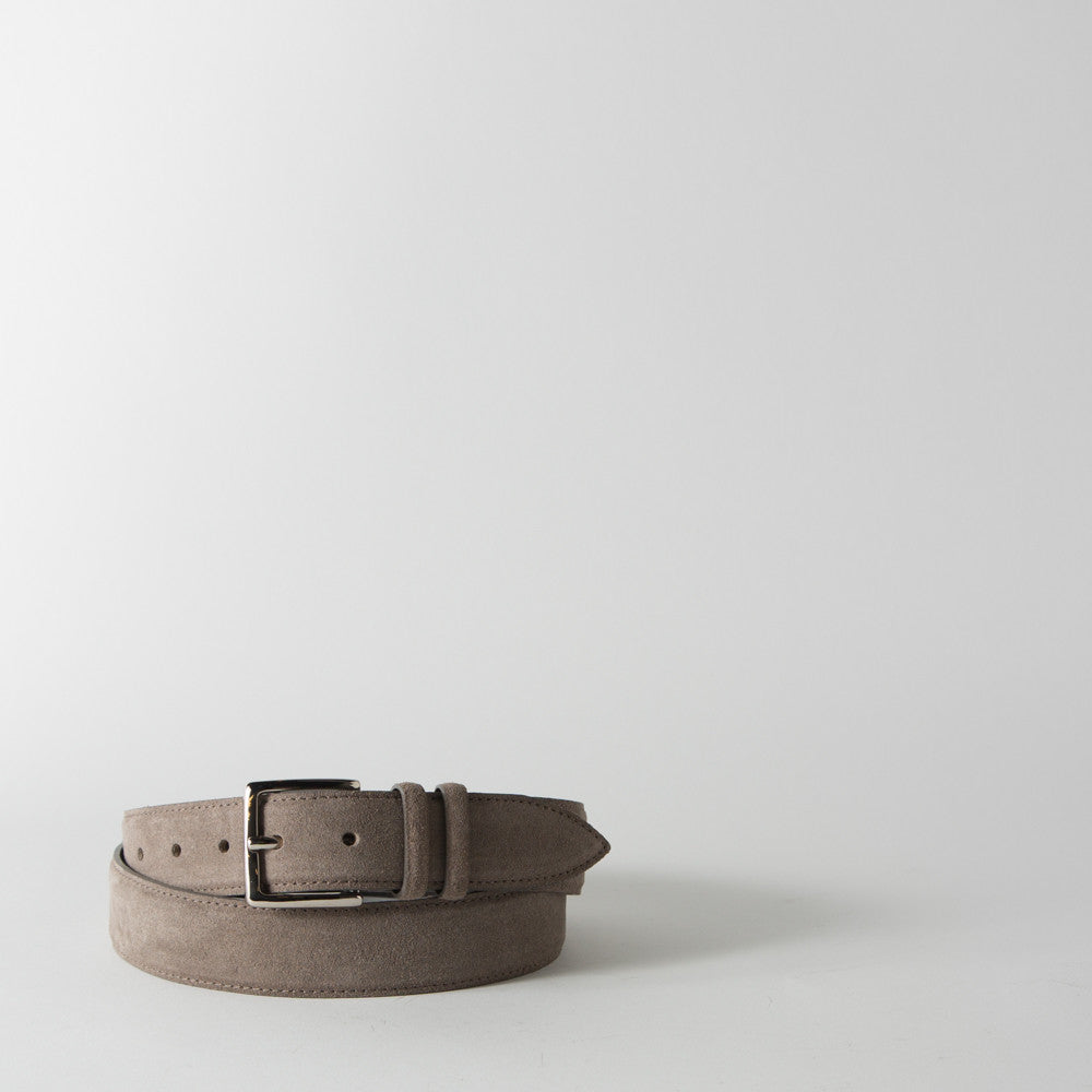 Taupe Suede Belt