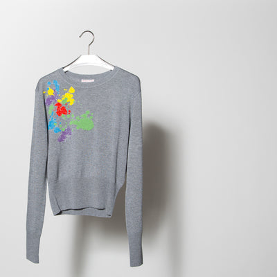Pollock Embroidered Sweater