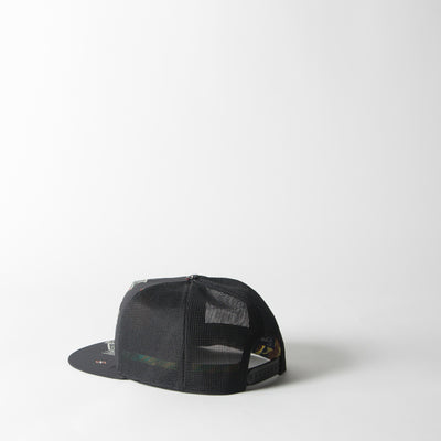 Fresh Trucker Crepe In Mexican Print on Black