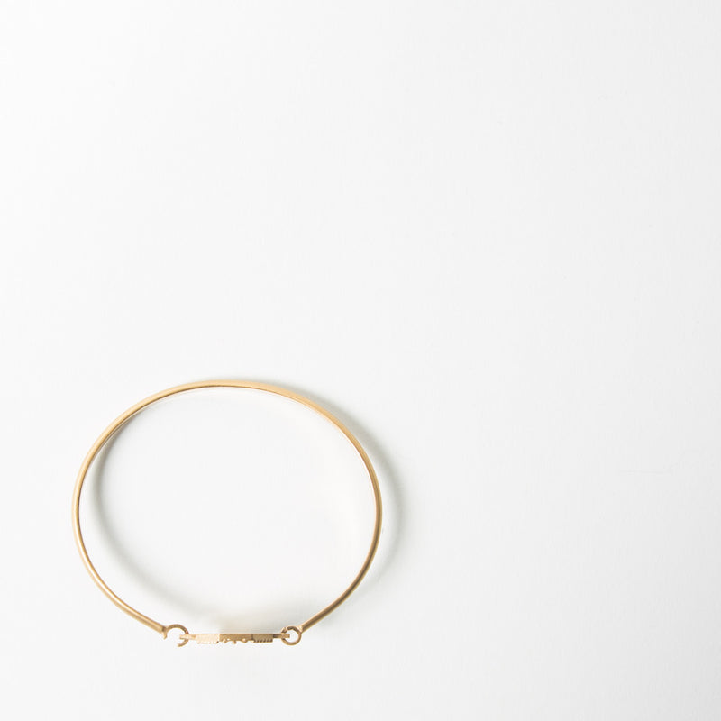 Agar Bangle in Brushed Gold