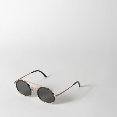 Iko Sunglasses in Black & Champagne