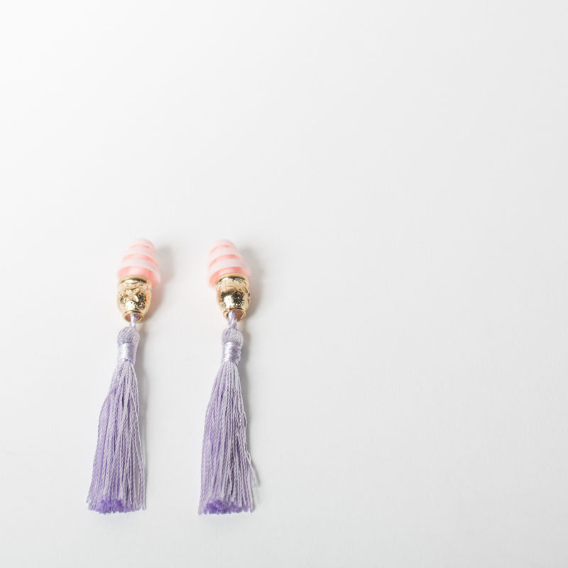 Tassel Ear Plugs, purple