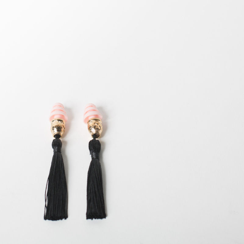 Tassel Ear Plugs, black