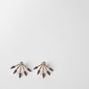 Five Spike Earrings, black diamonds