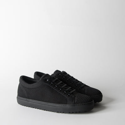 Low 1 Knitted Sneakers, carbon black