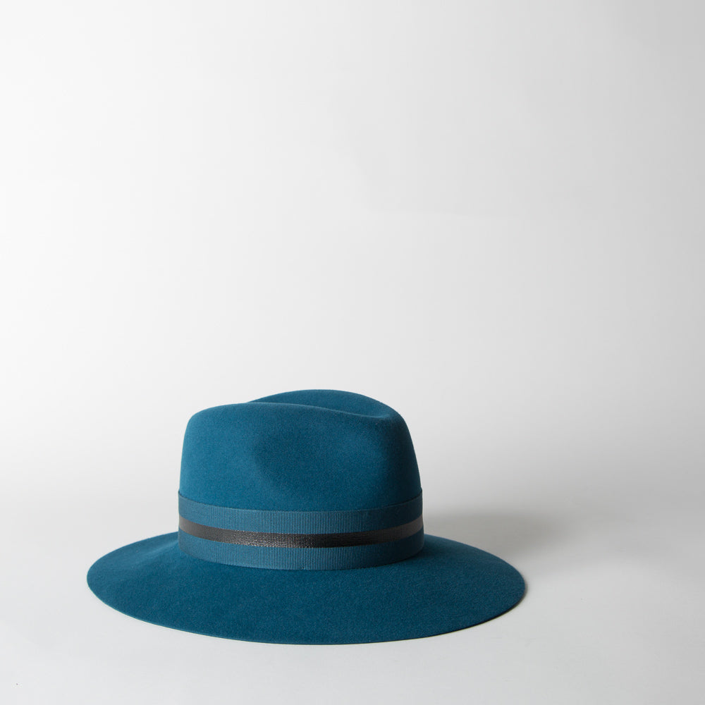 Henrietta Fedora, faithful blue