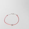 Pompon String Bracelet, white gold