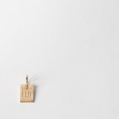 Mini-Luggage Tag Charm, Rome