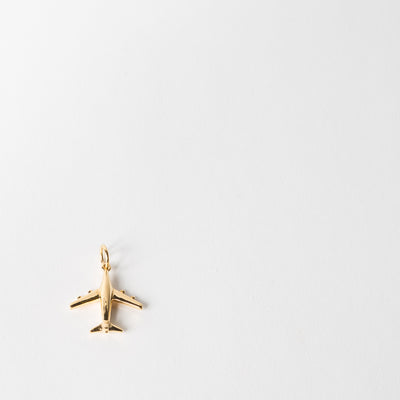 JSC Small Plane Charm, gold