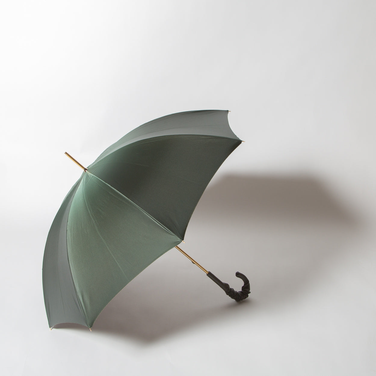 Leopard Print Olive Green Umbrella, double cloth