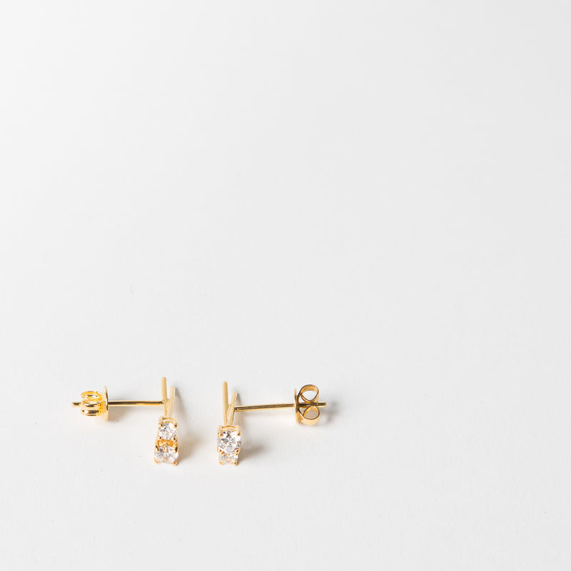 Topaz Crisscross Earrings