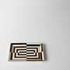 Op Art Rectangular Tray
