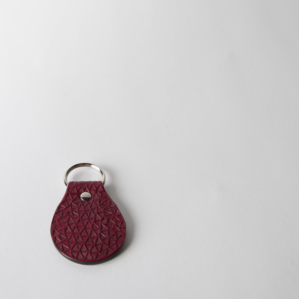Leather Mosaic Keychain, oxblood