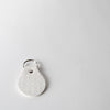 Leather Tile Keychain, white