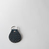 Leather Tile Keychain, navy