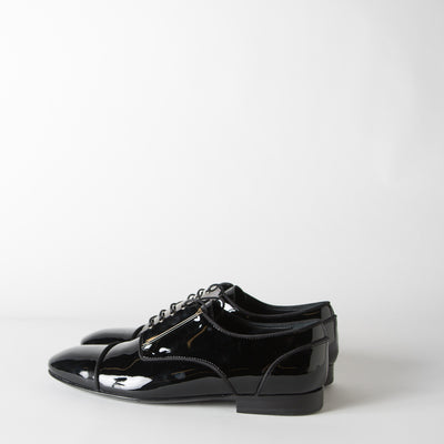 Patent Leather Derby w/ Silver