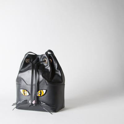 Black Cat Bucket Bag