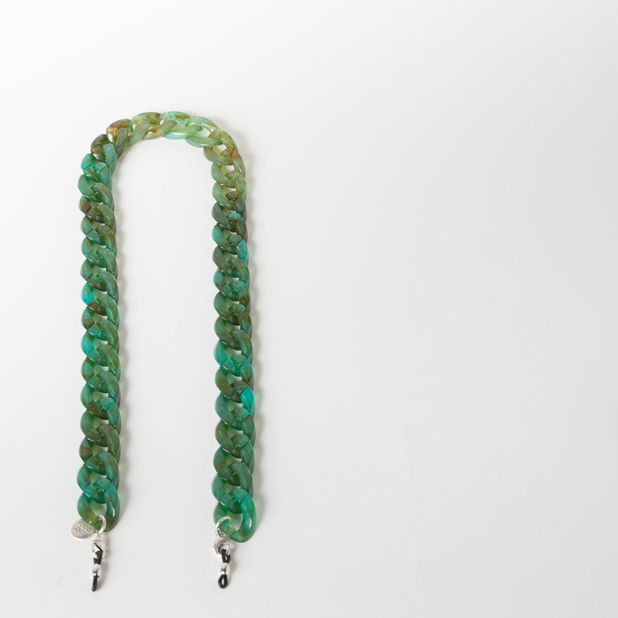fashion green chain eyewear strap in acetate by Poco Loco