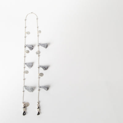 Tassel & Coins Chain, grey