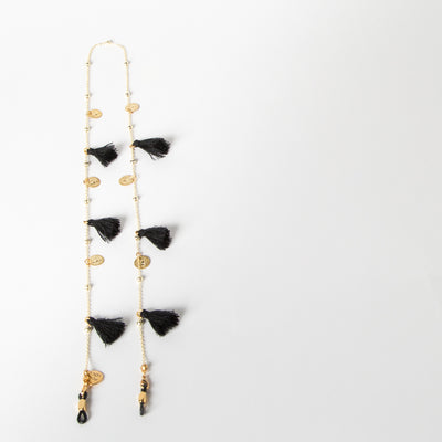 Tassel & Coins Chain, black