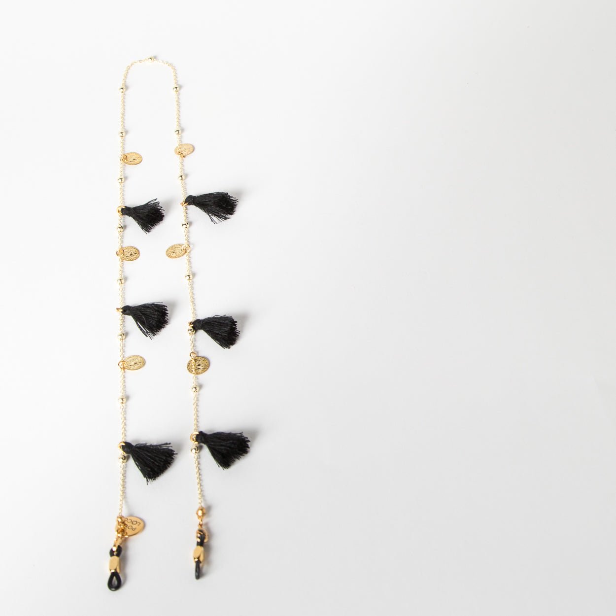 eyewear chain accessory in black and gold by SpecSet at Secret Location