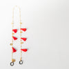 eyewear chain accessory in red and gold by SpecSet at Secret Location