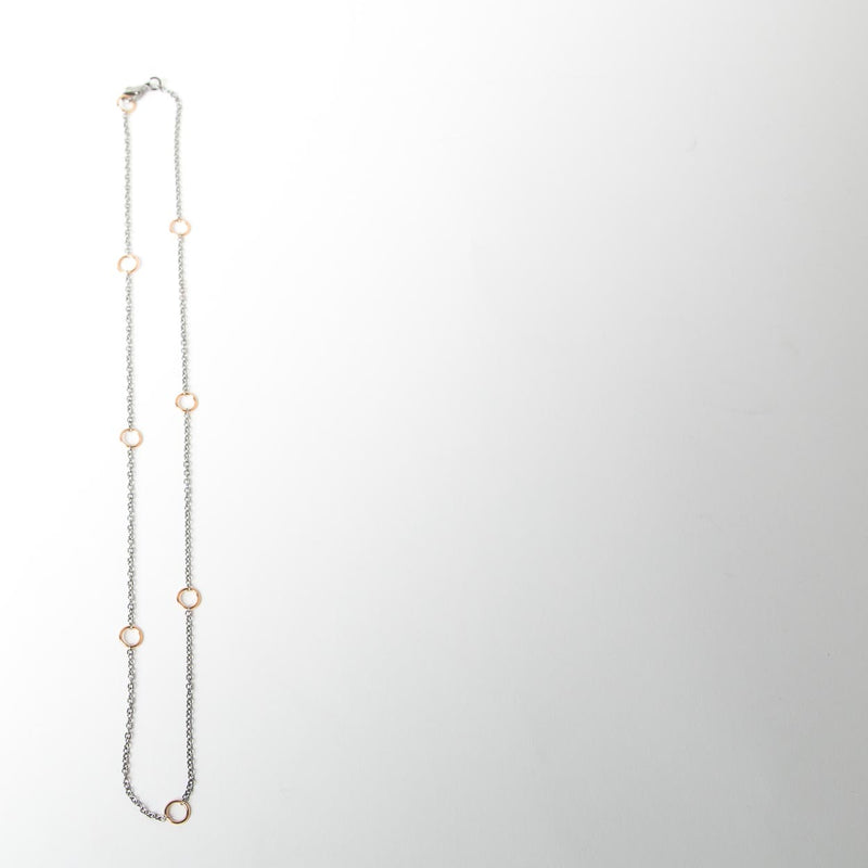 Necklace with Rose Gold Loops
