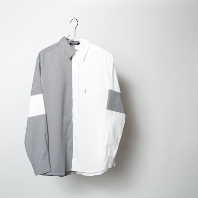 Mixed Fabric Shirt