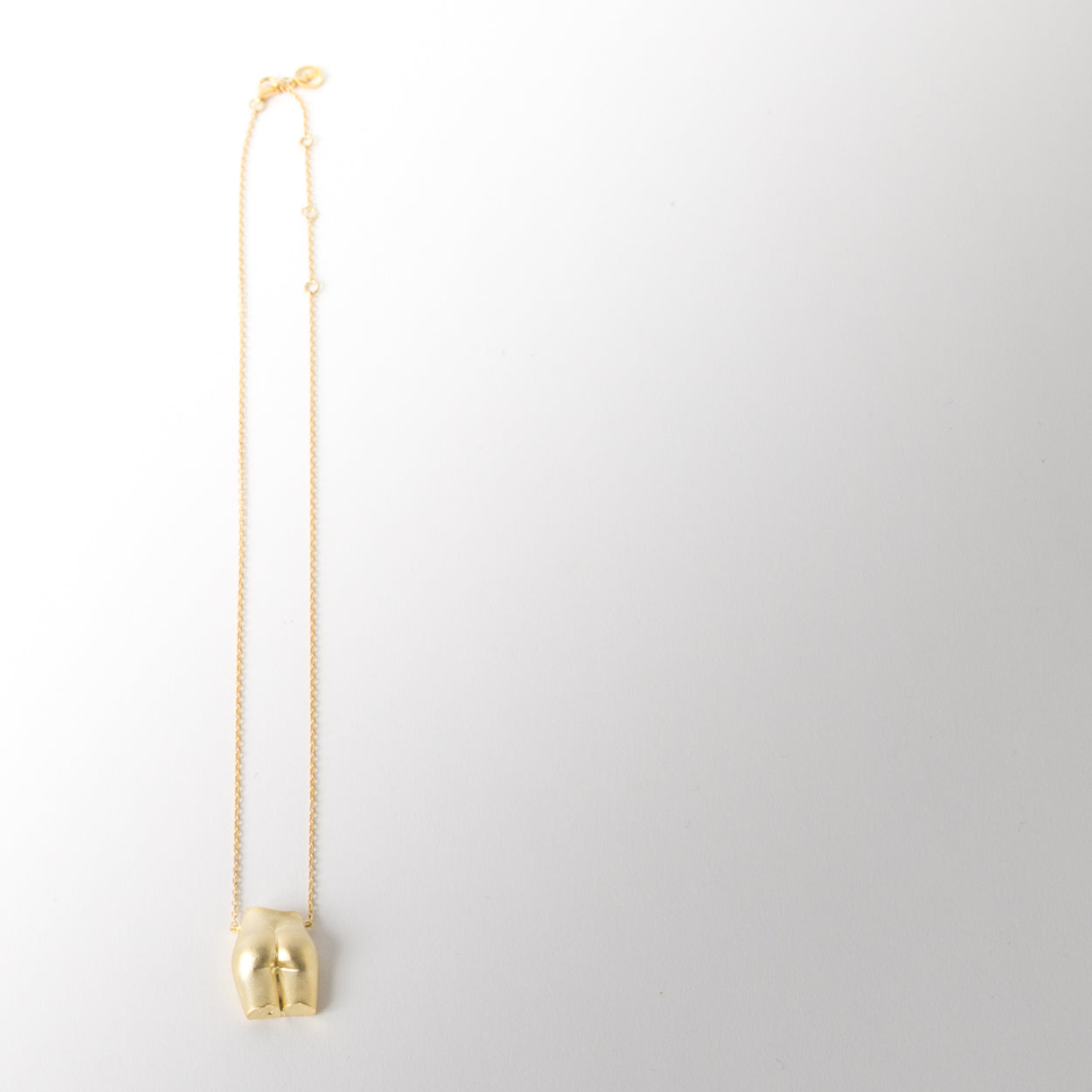 Le Derriere Necklace, brushed