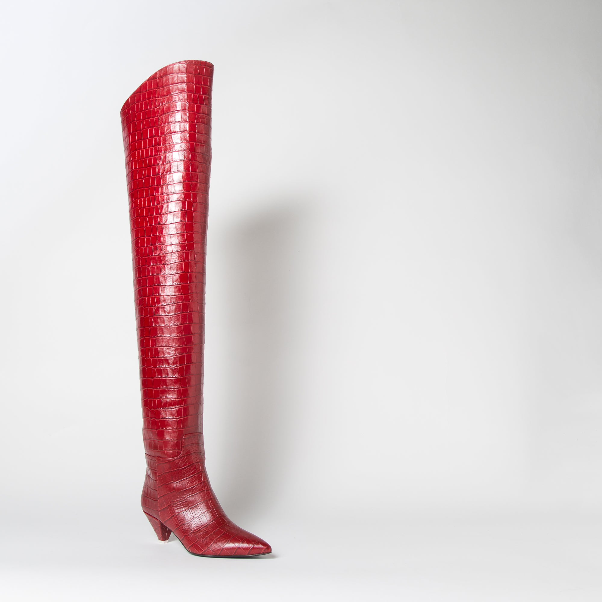 Asia Thigh-High, red croc