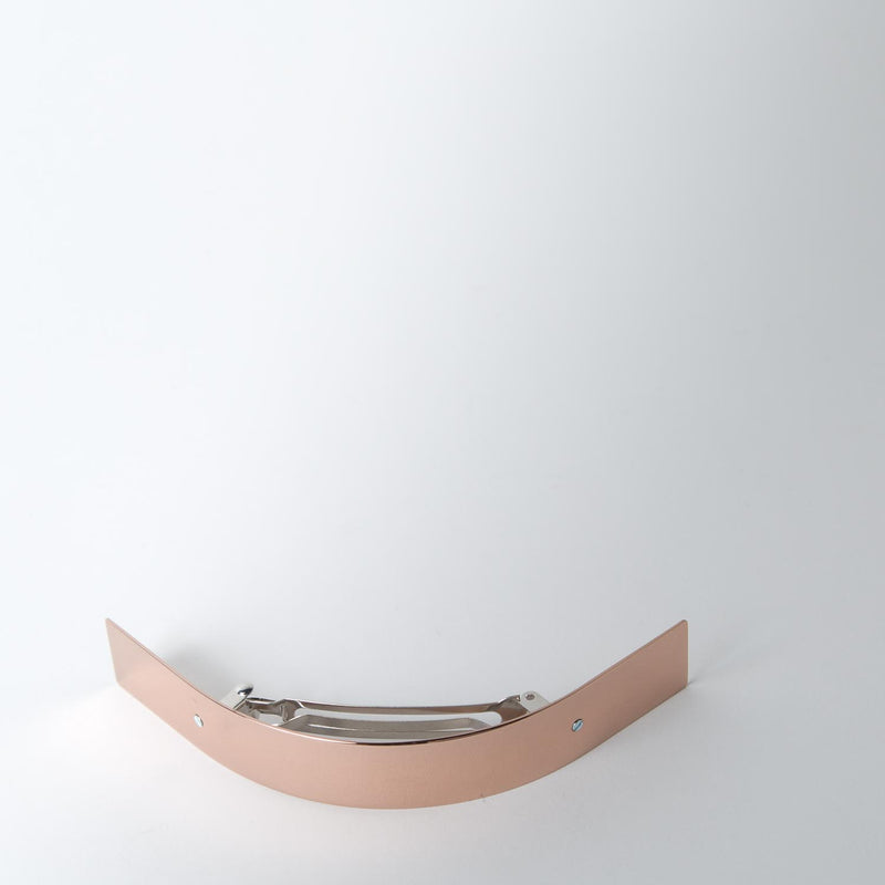 Long Curved Hair Barrette, rose gold
