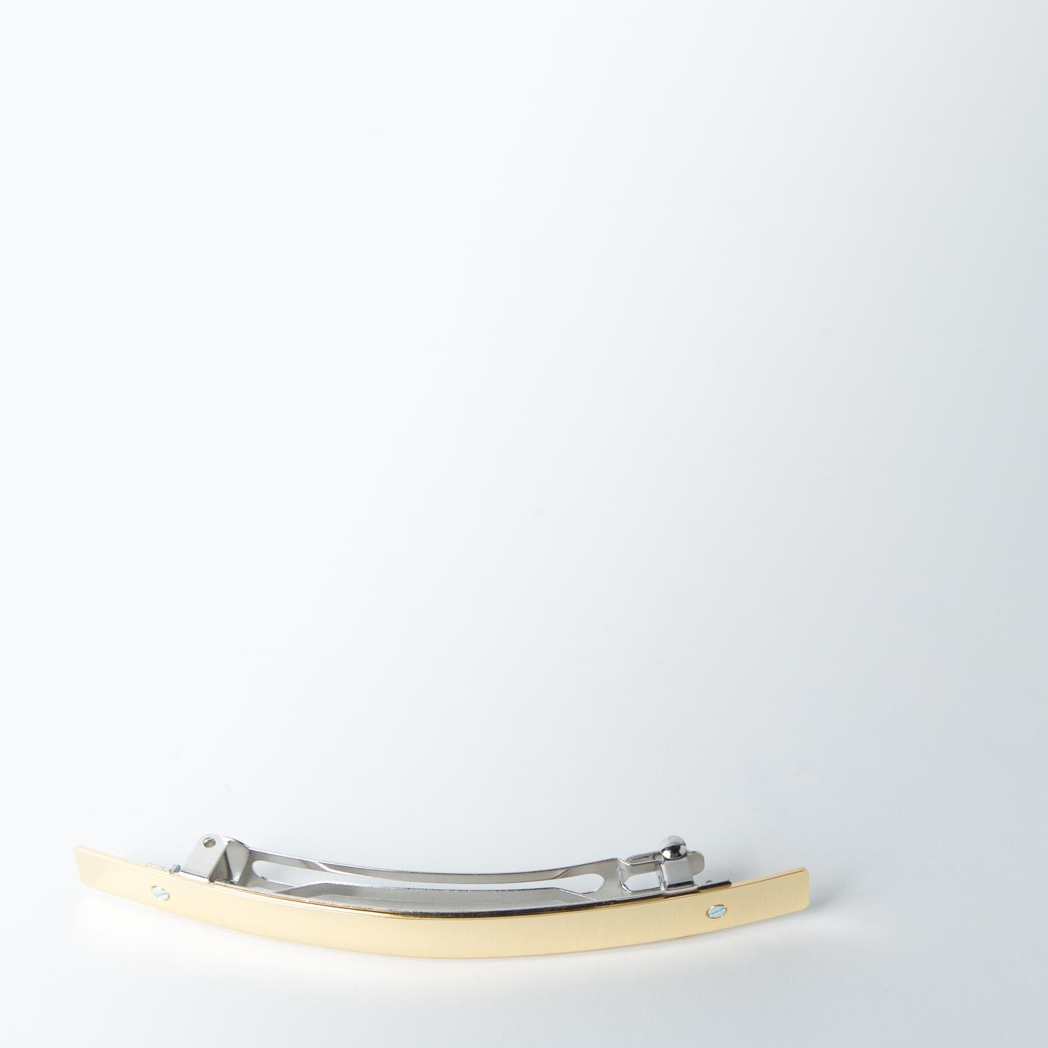 Short Curved Hair Barrette, gold
