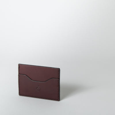 The Mayflower Card Holder, burgundy
