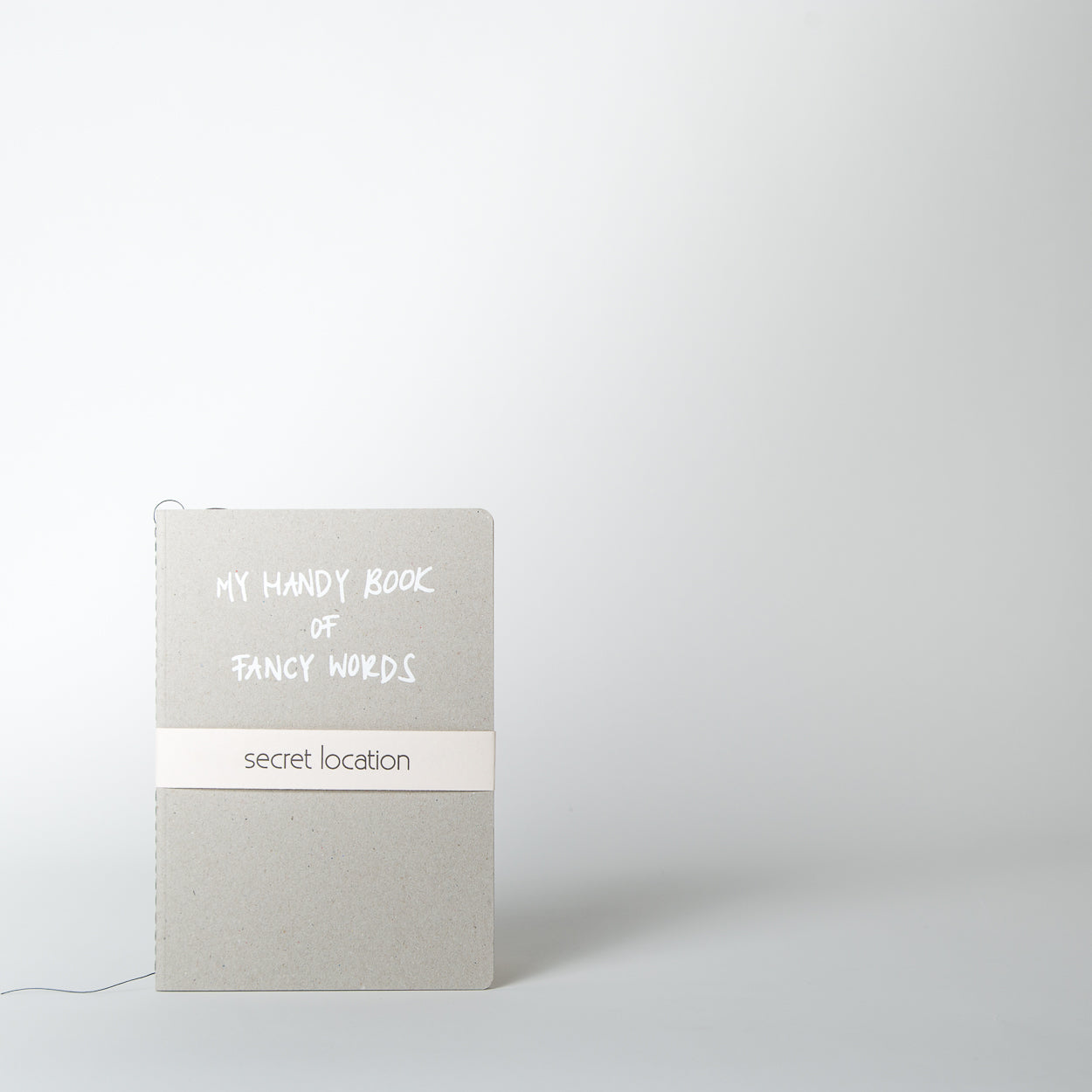 Fancy Words Notebook, white