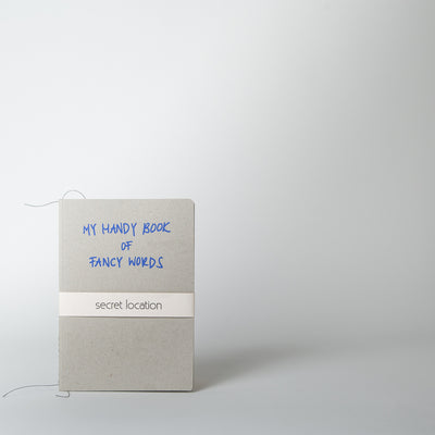 Fancy Words Notebook, cobalt