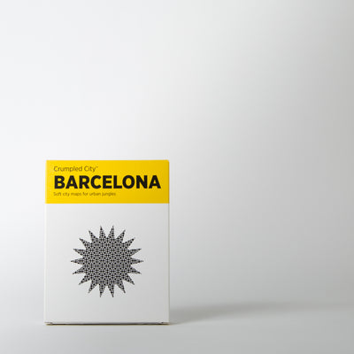 Crumpled City Map, Barcelona