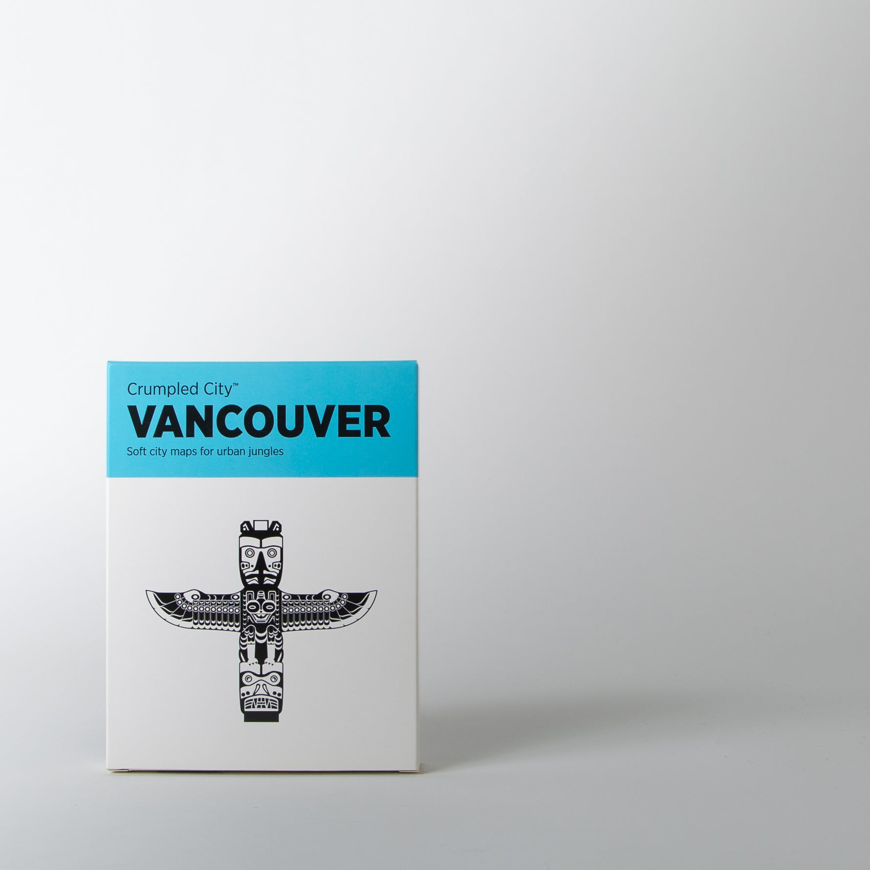 Crumpled City Map, Vancouver