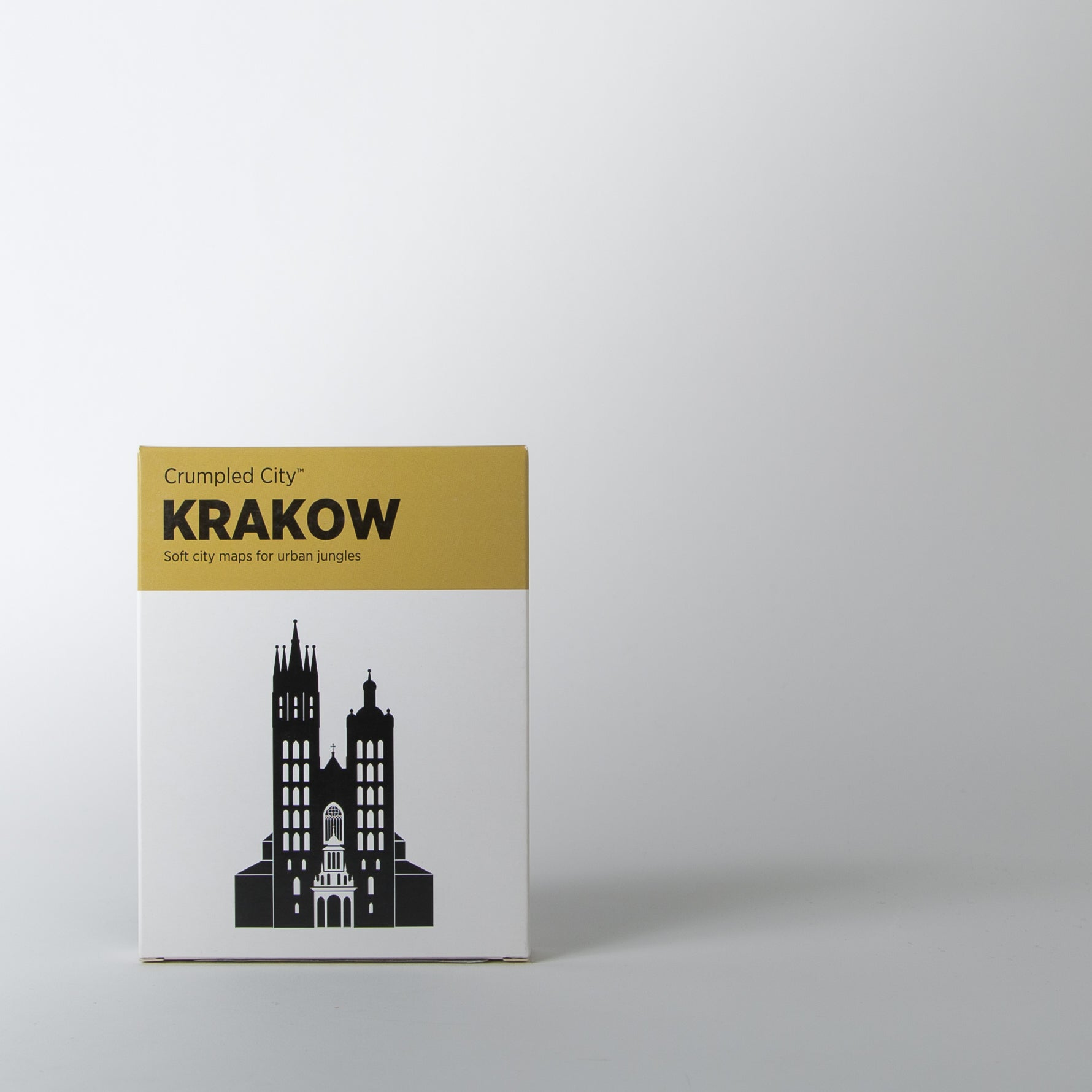 Crumpled City Map, Krakow