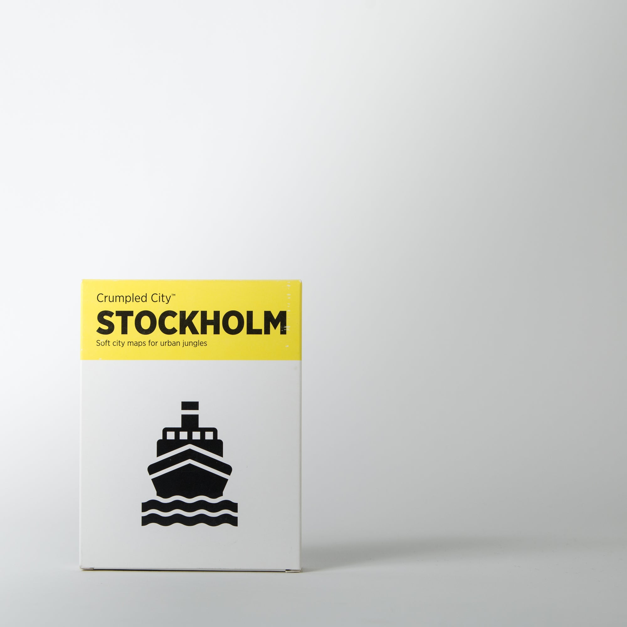 Crumpled City Map, Stockholm