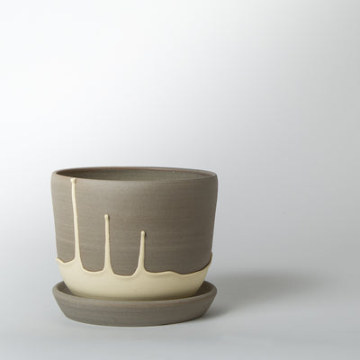 Planter Pot, yellow drip