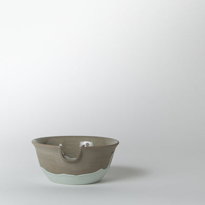 Face Mask Bowl, turquoise drip