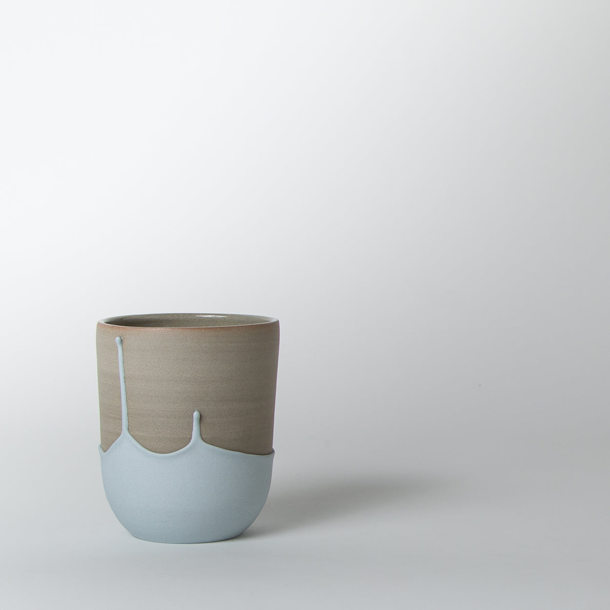 Large Cup, light blue drip