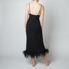 Black Feather Slip Dress