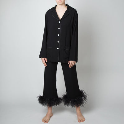 Pajama Suit Set, black