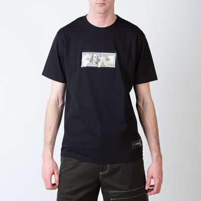 $100 bill t-shirt in black by 3.Paradis at Secret Location
