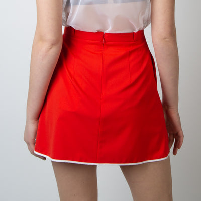 Short Tennis Red + Invasion Print Skirt